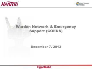 Warden Network & Emergency Support (COENS)