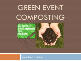 Green event Composting