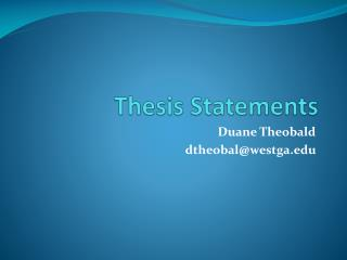 Thesis Statements