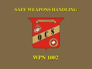 SAFE WEAPONS HANDLING