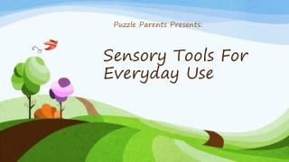 Sensory Tools  F or Everyday Use