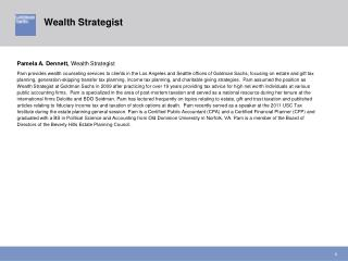 Pamela A. Dennett,  Wealth Strategist
