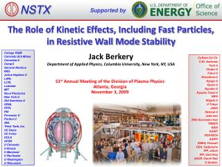 The Role of Kinetic Effects, Including Fast Particles, in  Resistive Wall Mode  Stability