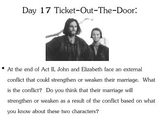 Day 17  Ticket-Out-The-Door: