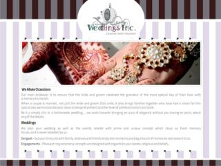 Weddings inc Food & Beverages