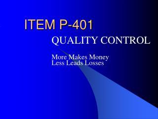 ITEM P-401