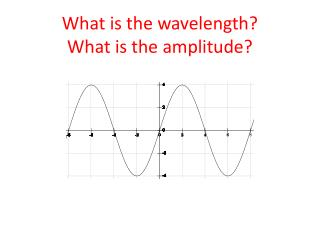 What is the wavelength? What is the amplitude?