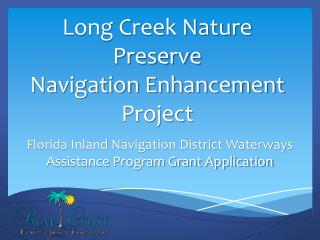 Florida Inland Navigation District Waterways Assistance Program Grant Application