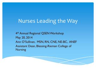 Nurses Leading the Way