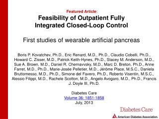 Feasibility of Outpatient Fully Integrated Closed-Loop Control