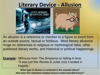 Literary Device - Allusion
