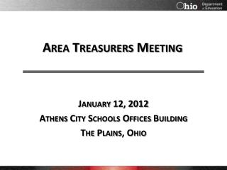 Area Treasurers Meeting