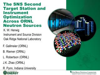 The SNS Second Target Station and Instrument Optimization Across ORNL Neutron Sources