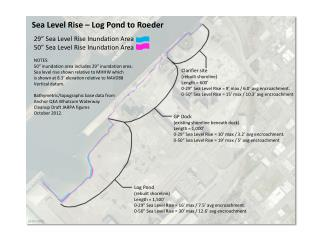 Log Pond (rebuilt shoreline) Length = 1,500�