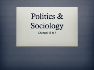 Politics & Sociology
