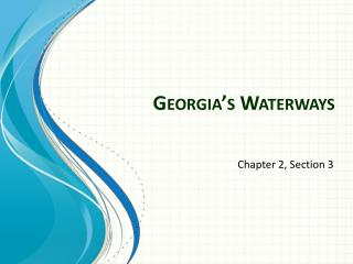 Georgia's Waterways