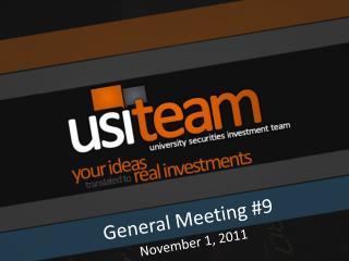 General Meeting  #9