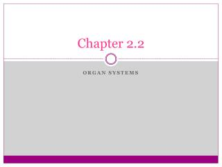 Chapter 2.2