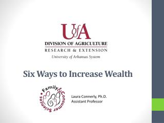 Six Ways to Increase Wealth