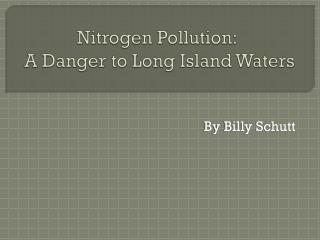 Nitrogen Pollution:  A Danger to Long Island Waters