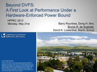 Beyond DVFS: A First Look at Performance Under a Hardware-Enforced Power  Bound