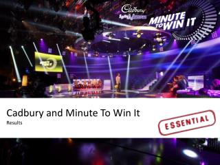 Cadbury and Minute To Win It Results