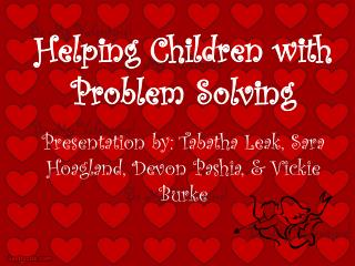 Helping Children with Problem Solving