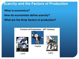 1 define production what are the factors In-depth review of factors of production meaning with chart and explanations   money, or income, is just one of several scarce or limited resources we have to.