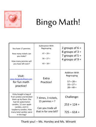 Bingo Math!