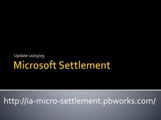 Microsoft Settlement
