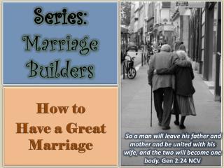 Series:  Marriage Builders