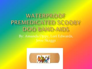 Waterproof Premedicated Scooby Doo Band-Aids