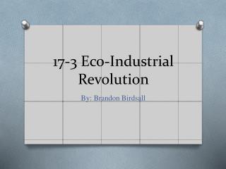 17-3 Eco-Industrial Revolution