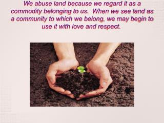 Land management and Soil Pollution