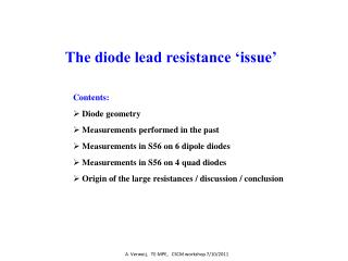 The diode lead resistance 'issue'