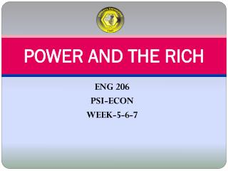POWER AND THE RICH