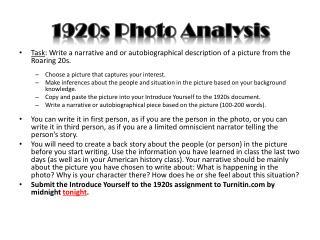 1920s Photo Analysis