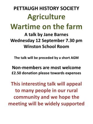 Agriculture Wartime on the Farm