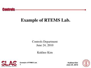 Example of RTEMS Lab.