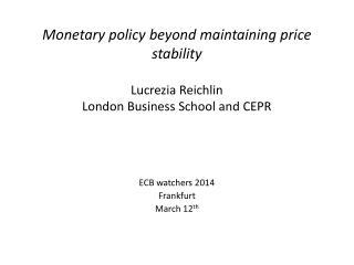 ECB watchers 2014 Frankfurt  March 12 th