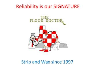 Reliability is our SIGNATURE