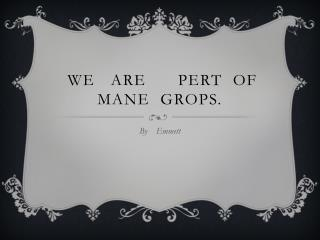 We   are      Pert  of   Mane   Grops .