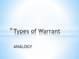 Types of Warrant