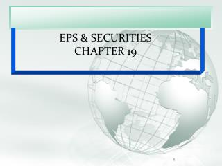 EPS & SECURITIES CHAPTER 19
