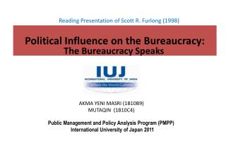 Political Influence on the Bureaucracy: