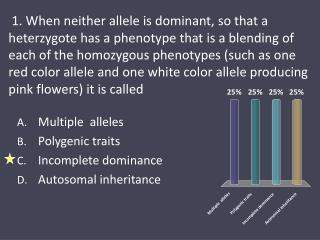 Multiple   alleles  Polygenic  traits  Incomplete  dominance  Autosomal  inheritance
