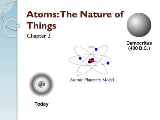 Atoms: The Nature of Things
