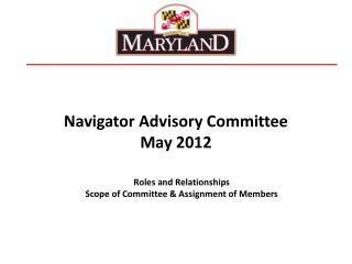 Navigator Advisory Committee May 2012