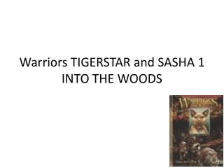 Warriors TIGERSTAR and SASHA 1 INTO THE WOODS