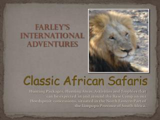 Classic  African Safaris